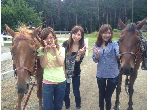 【山梨・八ヶ岳  初心者向け!】体験乗馬コース(80分)の紹介画像