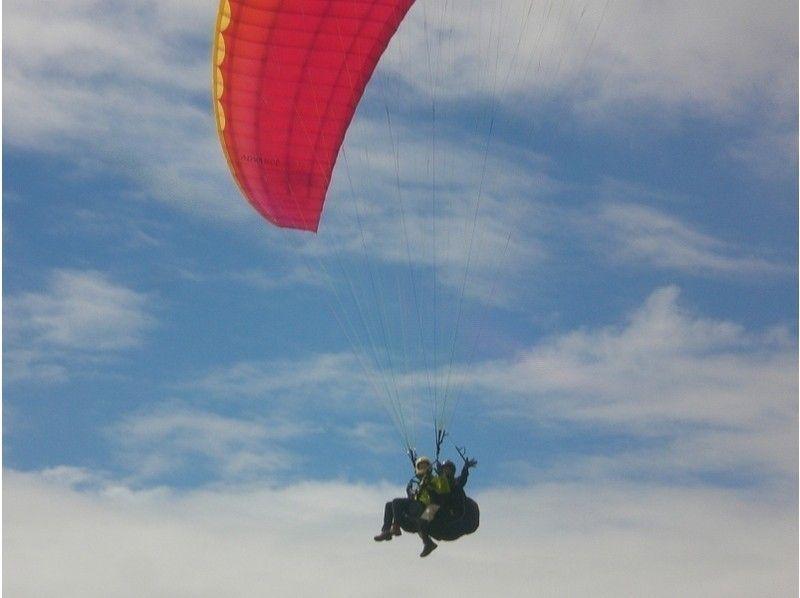【山形・南陽】初心者にオススメ!パラグライダー体験タンデム(二人乗り)フライトの紹介画像
