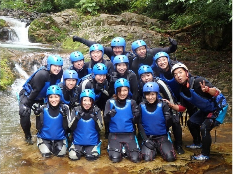 [Gunma, water, canyoning natural slider up to 7m! Introduction image of thrill preeminent maple course (half a day)