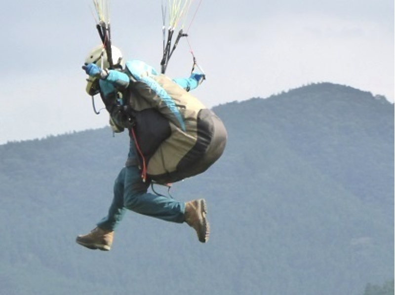 【埼玉・1日】斜面を使って飛んでみよう!パラグライダー体験(1日コース)の紹介画像
