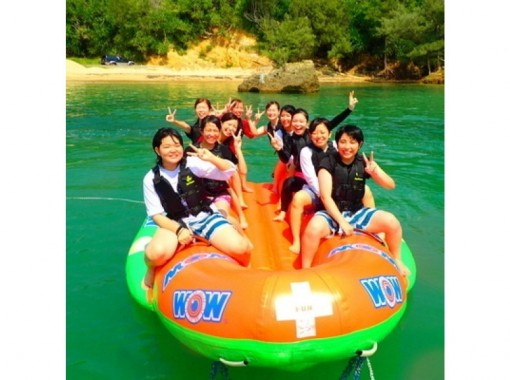 【東海岸プライベートビーチ】海のジェットコースター バナナボート※オプションでBBQも出来ます!