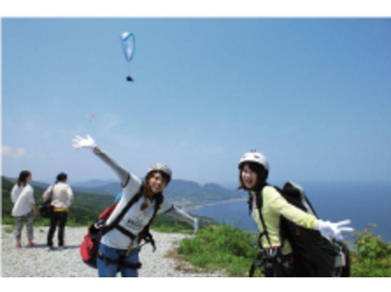 【愛知・初心者向け】Web割!1人乗り体験パラグライダー&タンデム遊覧飛行セットコースの紹介画像