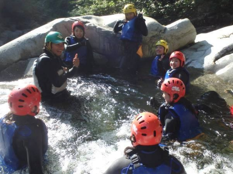 [Gunma, water / water] greedy W adventure! Canyoning & introduction image of canoe set (with lunch)