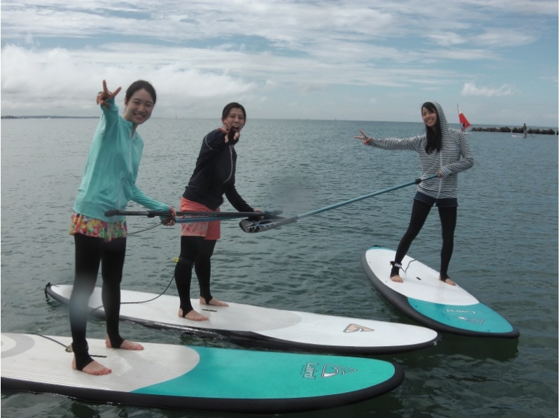 【Shonan · Kamakura, for beginners】 SUP Experience School 1 hour + tool rental 2 hours course + Introduction picture photo gift