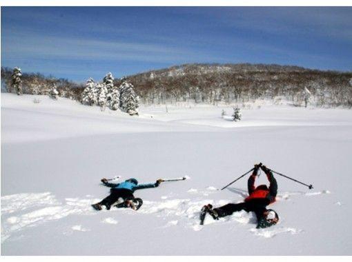 """[北海道,登別]登別溫泉的山間漫步""""雪上徒步霧凇走""""小的孩子也可以加入我們!の紹介画像"""