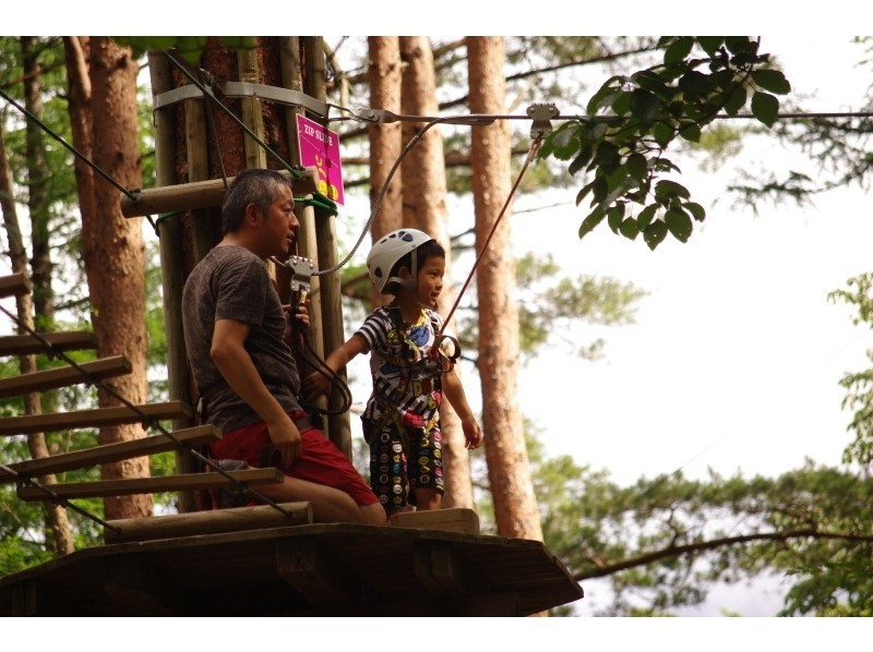 [Yamanashi Fuji] for children! Introduction image of Forest Adventure (canopy course)