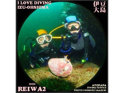 【東京・伊豆大島】水中記念写真無料サービス・体験ダイビング