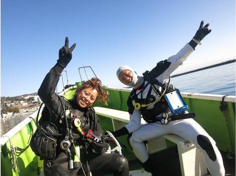 [Catch in Kanagawa, Miura leisurely kayak! ] Introduction image of fan diving kayak diving course (2 Beach)