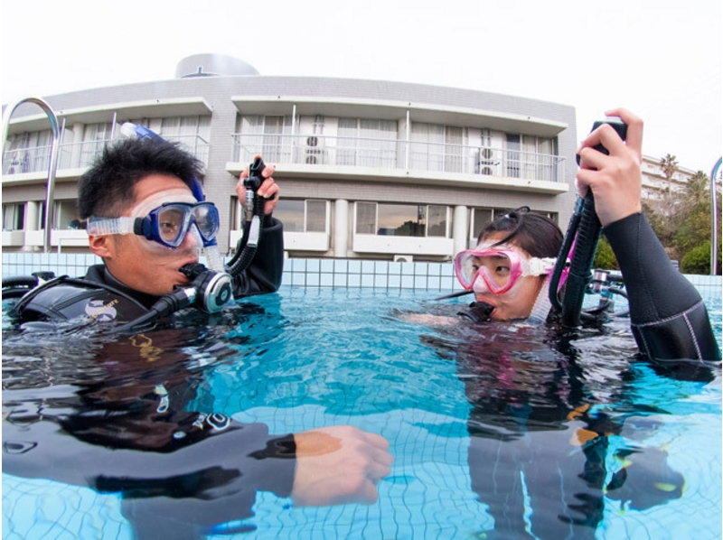[Kanagawa, Miura experience in the sea! ] Ocean Academ introduction image of experience diving courses (one pool + Beach 1)
