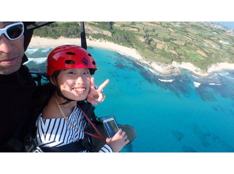 【鹿児島・奄美大島の大空へ!】モーターパラグライダー体験★体験型遊覧飛行サービスの紹介画像