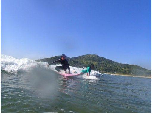 【福岡・糸島】NSA公認指導員による少人数制スクール!サーフィン体験(半日コース)の紹介画像