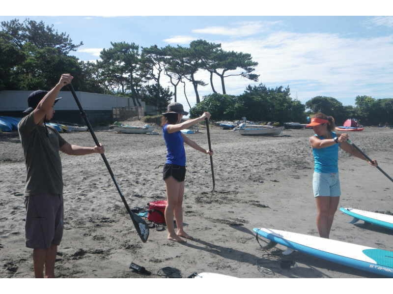 [Kanagawa, Hayama] SUP beginner class [peace of mind, is the polite small groups ♪] Introduction to image