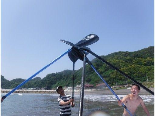 【千葉・南房総】「地域共通クーポン利用可能プラン」岩井海岸で行うSUP波乗り体験   ※SUP経験者の方が対象です。の紹介画像