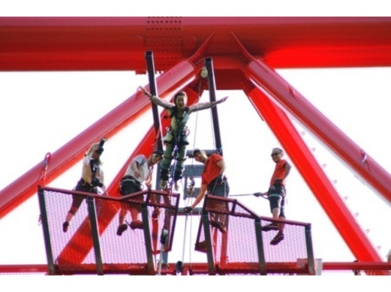 """[Gunma, Sarugakyo] bungee jump from a height of 62m in the hot springs! Introduction image of """"Sarugakyo bungee"""""""
