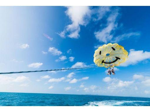 [人気スポット海中道路 ] にこちゃんパラセーリング(100mロープ) 4歳から楽しめる!