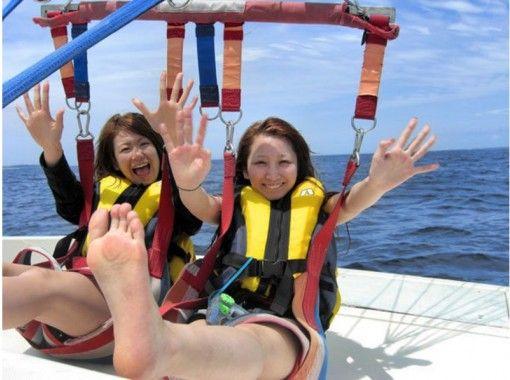 【北部発】空から沖縄の海を満喫!気軽に空中散歩!パラセーリング