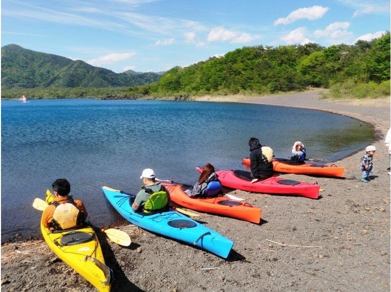 [Yamanashi Motosu] graceful moments overlooking the Mount Fuji! Kayaking experience introduction image of (half-day course)
