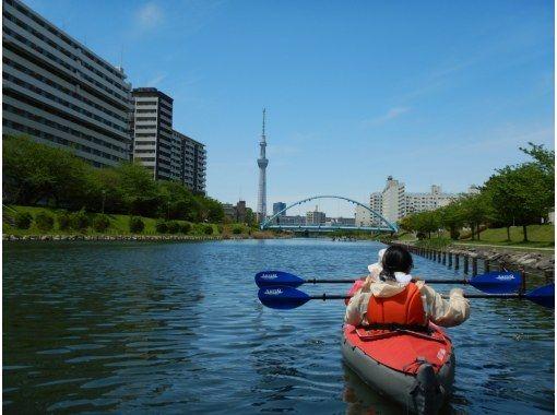 Safe for the first time! Tokyo Sky Tree Kayak Tour [Canoe] Enjoy NO dense leisure in Tokyo.の紹介画像