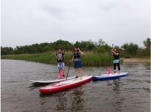 [愛知·Kisogawa]悠閒地享受! SUP河遊船課程(約120分鐘)の紹介画像