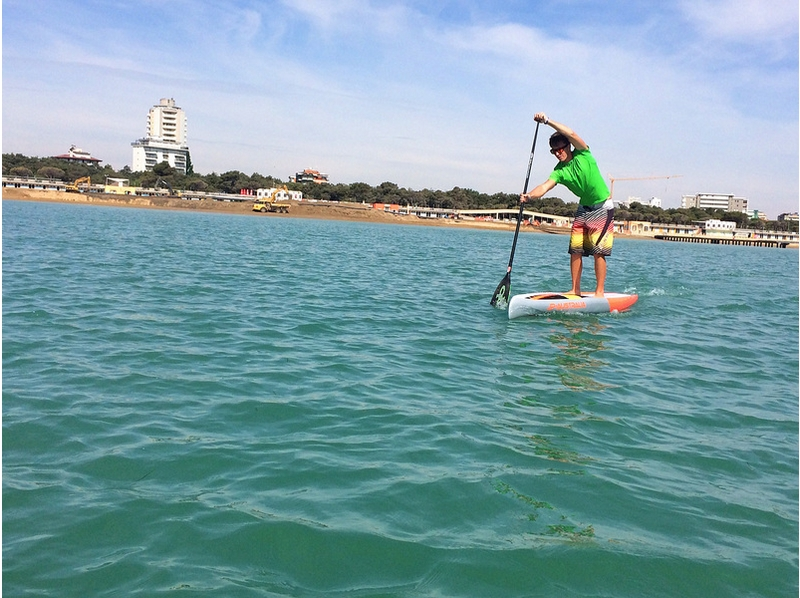 [Kanagawa, Miurakaigan] SUP lessons introduce the image of the (half-day course)