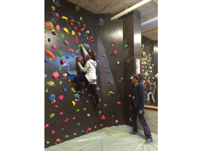 [Shinjuku, Tokyo] Monday, Lady's Day! Body shape in bouldering! Introduction to image