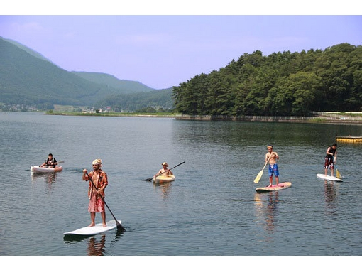 【長野・木崎湖】初めての方やお子様でも安心♪ガイド付きSUP入門コース【1時間半】