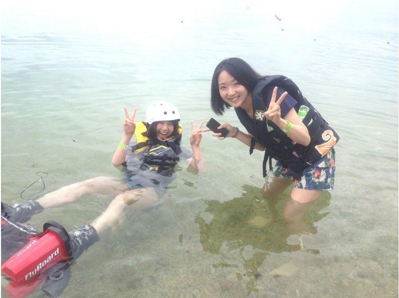 【滋賀・琵琶湖】ウキウキ空中遊泳♪フライボード体験(25分)の紹介画像