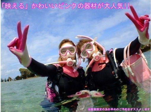 水中時間最大60分!写真動画無料【沖縄・青の洞窟ダイビングロングコース】パラセーリングセットも大人気