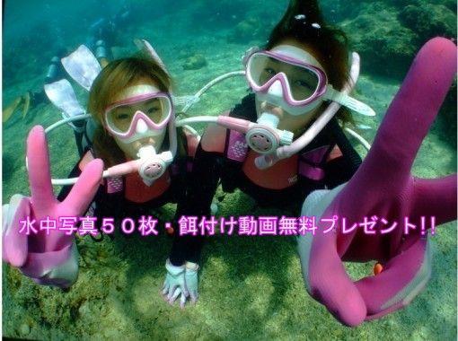 コロナ対策OK!!【沖縄・青の洞窟ダイビングロングコース】 水中最大60分・水中写真・動画・バスタオル無料!! パラセーリングセットも大人気