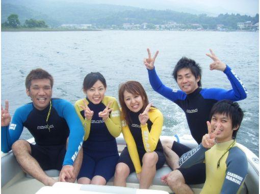【山梨・山中湖】富士山をバックにウェイクボード体験2セット(30分)