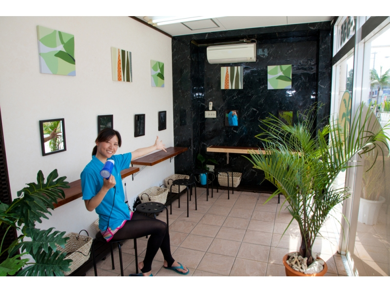 The charm of the plan Of course the facilities are enriched! A nice powder room is also available for women! Image of