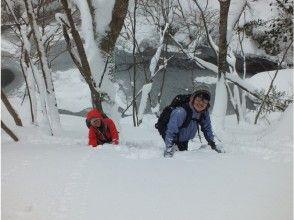【岡山・蒜山】何度もテレビで紹介された!?山乗渓谷スノーシュートレッキングの魅力の説明画像