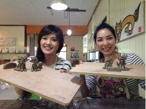 【沖縄・名護】沖縄旅行の記念に!オリジナル陶器シーサー作り (沖縄ドリンク付)の魅力の説明画像