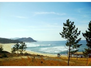 プランの魅力 日本海を代表する白砂青松の美しい砂浜「琴引浜」。鳴き砂を体験した後は、クラフト体験をぜひ! の画像