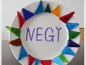 プランの魅力 Make a decorative small plate using colorful glass. の画像