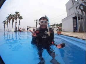 [Kanagawa Miura] Let's except for the world of the sea! Mito beach in experience diving [Pool training] of the charm of the description image