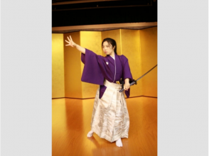 [Kyoto Samurai experience] of the demonstration show to see in front of a real sword dance by Shihan our attractive description image