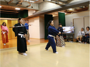 [Kyoto Samurai experience] Let's try a full-fledged sword dance and watch a demonstration of the charm of the description image