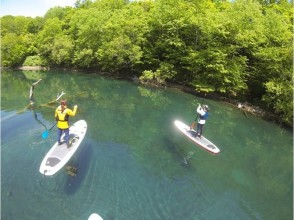 Cruising the high Shikotsuko of the lake surface of Hokkaido · SUP experience] transparency! SUP experience the charm of description image of (half-day course)