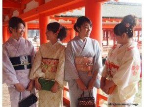 【広島・宮島】厳選されたワンランク上の着物を着て宮島観光を満喫[お着物レンタルプラン]の魅力の説明画像