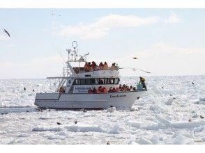 [Hokkaido Shiretoko] feel free to experience! Charm of description image of drift ice cruising & Bird watching 1 hour course 13 o'clock departure
