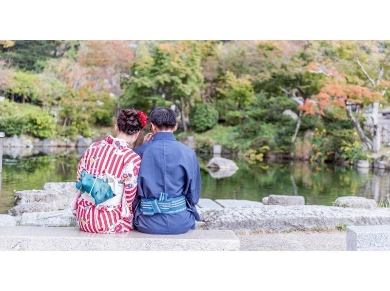 Charm of the plan The couple and the kimono at the couple are also wonderful. Image of