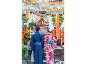 プランの魅力 一对身着和服的夫妇参观的京都将是一个令人难忘的纪念日。 の画像