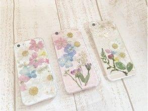 プランの魅力 This is an example of a pressed flower smartphone case. The individuality appears. の画像