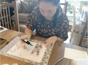 [Tokyo Fujimidai] flower is full! Sumahokesu making of charm of description image decorate with pressed flowers