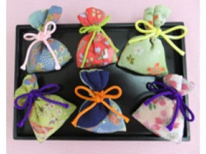 [Kyoto Shimogyo] Let's make the traditional smell bag with your favorite scent! Charm of description image of the original handmade experience enjoyed in ancient city