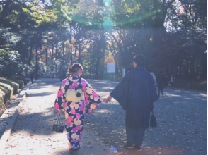 【東京・原宿】レンタル着物で原宿デートしませんか?☆カップルプラン☆の魅力の説明画像