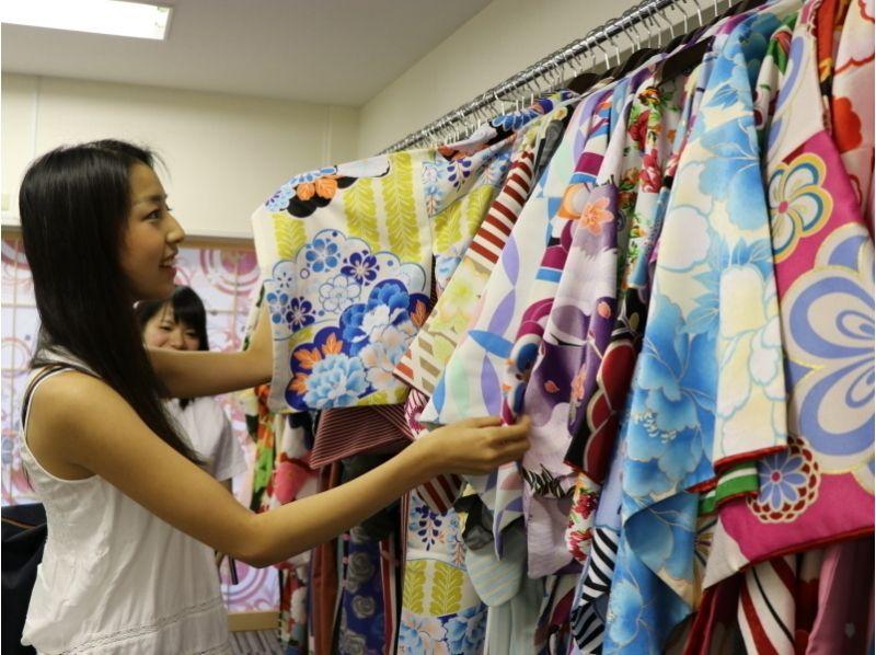 プランの魅力 様々な柄から着物が選べます! の画像
