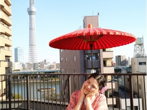 【東京・浅草】浴衣・着物レンタル+人力車~お散歩プラン~の魅力の説明画像