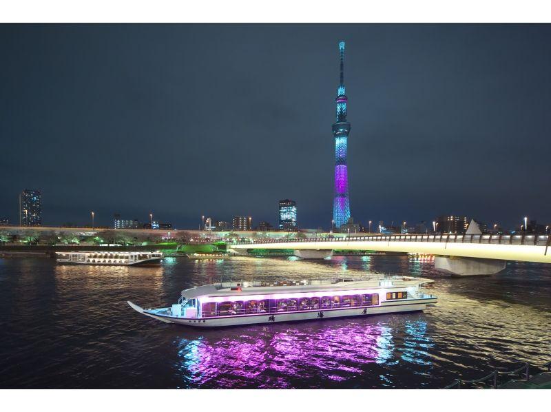 プランの魅力 水面から見上げる夜景 の画像